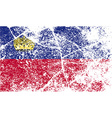 Flag of Liechtenstein with old texture vector image