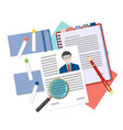 Flat design concept for human resource vector image