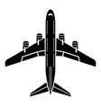 flying plane icon simple style vector image