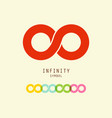 infinity symbol endless icons set vector image