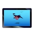 Online video on the tablet vector image