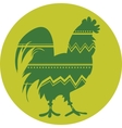 Rooster symbol of Chinese New Year vector image