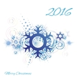 Snowflake abstract grunge background vector image