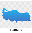 turkey map in europe continent design vector image
