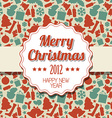 Vintage retro Christmas label vector image