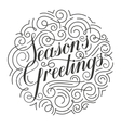 Seasons Greetings Christmas card Original vector image