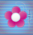 Colorful scrapbook with flower vector image