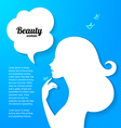 Applique background with beautiful girl silhouette vector image vector image