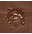 a coffee stain streaks vector image