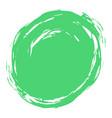 green brush stroke circle shape vector image