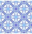 blue background floral decoration vector image