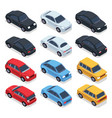 isometric 3d cars transportation technology vector image