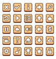 Wooden game buttons vector image