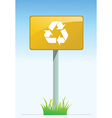 Recycling road sign vector image