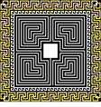 gold Greek ornament Meander and labyrinth vector image vector image