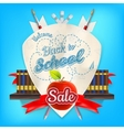 School sale background EPS 10 vector image vector image