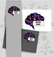 brain sign logo vector image vector image