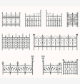 Antique fences - second set vector image