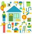 Build and repair color icon collection vector image