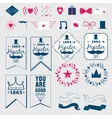 Cooking frames labels and graphic elements vector image