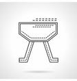 Gymnastics equipment flat line design icon vector image