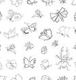 hand drawn ink vector image
