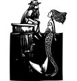 Mermaid and Man vector image