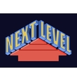 Next Level T-shirt Typography vector image