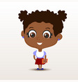 schoolgirl with notebook vector image
