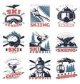 Ski Season Emblem Set vector image