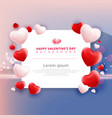 valentines day sale with balloons heart pattern vector image
