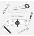 toolset in wood box vector image