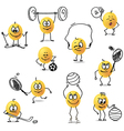 smiley sports vector image
