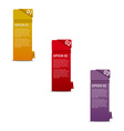 vertical paper options vector image vector image
