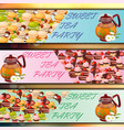 banner set with sweets vector image