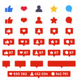 Like follower comment icon set social counters vector image
