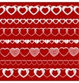 White seamless paper garlands from hearts set on vector image