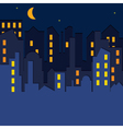 cityscape at the night time vector image vector image