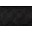 Black abstract geometric rumpled triangular vector image