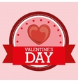 happy valentines day design vector image