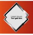 background angle Orange black dimension 3d vector image