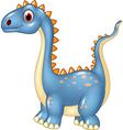 Cartoon cute dinosaur isolated on white background vector image