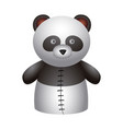 isolated panda puppet vector image