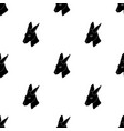kangaroo icon in black style isolated on white vector image