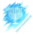 Menora For Hanukkah Celebration vector image