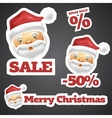 Santa Claus Discount Sale Stickers vector image