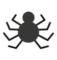 spider danger isolated icon design vector image