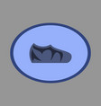 icon in flat design fashion footwear sport shoes vector image