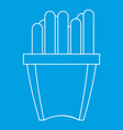french fries icon outline style vector image