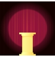 Yellow Marble Greek Column vector image